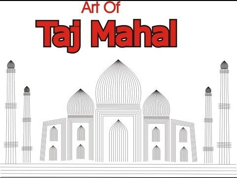 corel draw making taj mahal