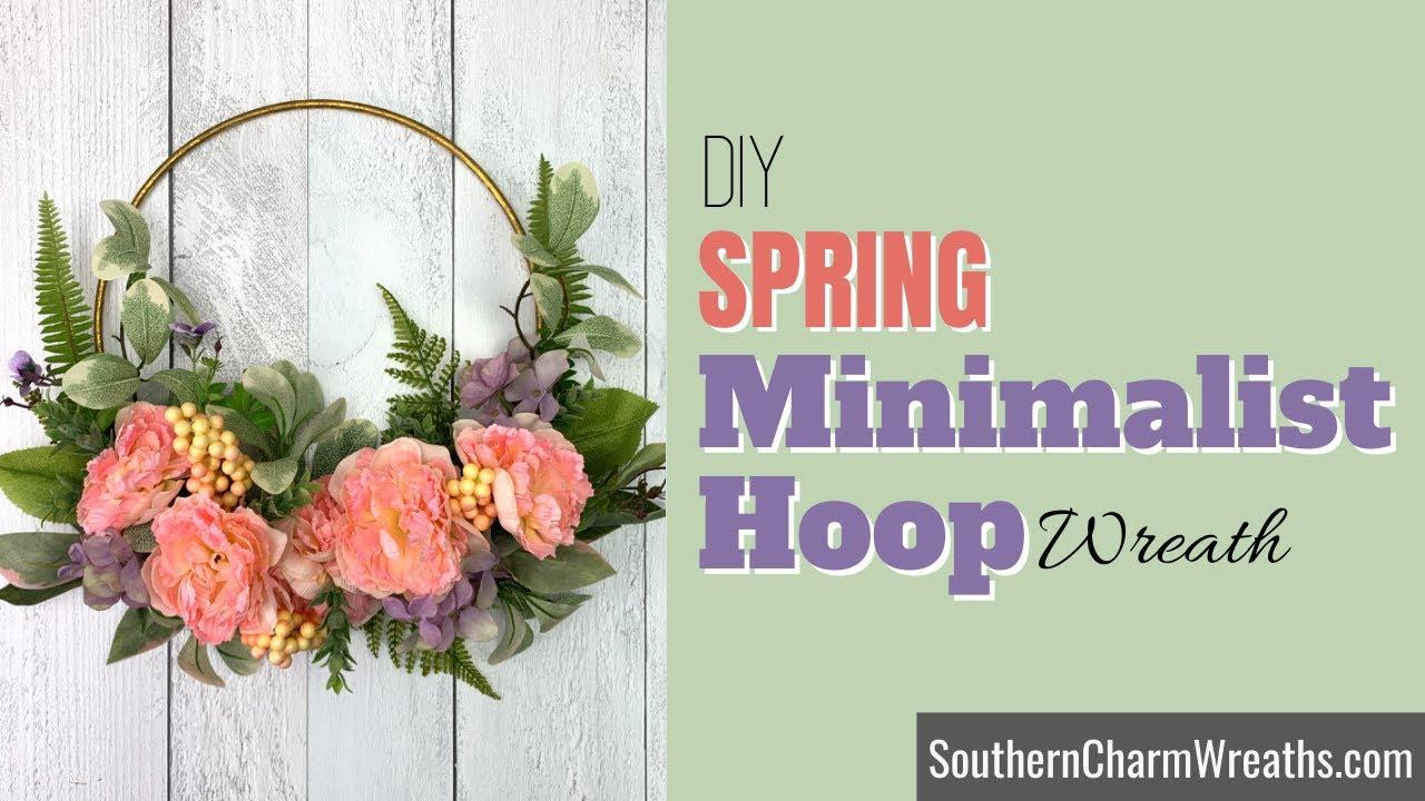 DIY Spring Hoop Wreath | Minimalist