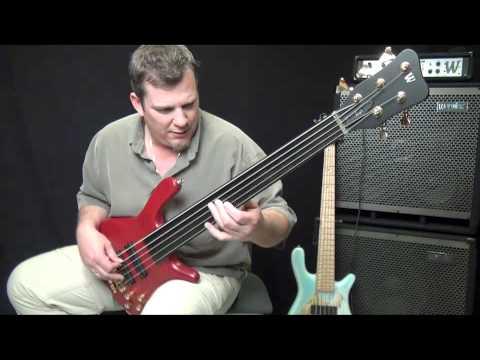 Warwick Streamer Stage 1 Fretless 5 String Bass Demo - Andy Irvine