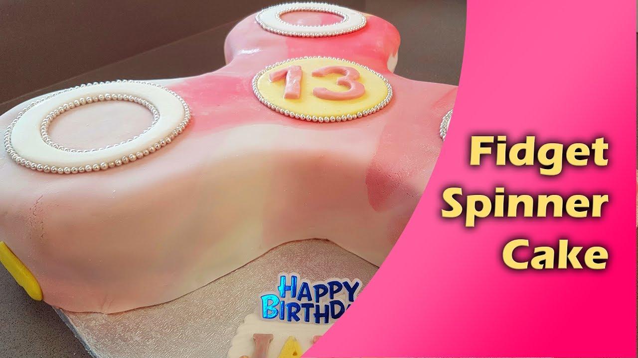 How to make fidget spinner cake. - YouTube