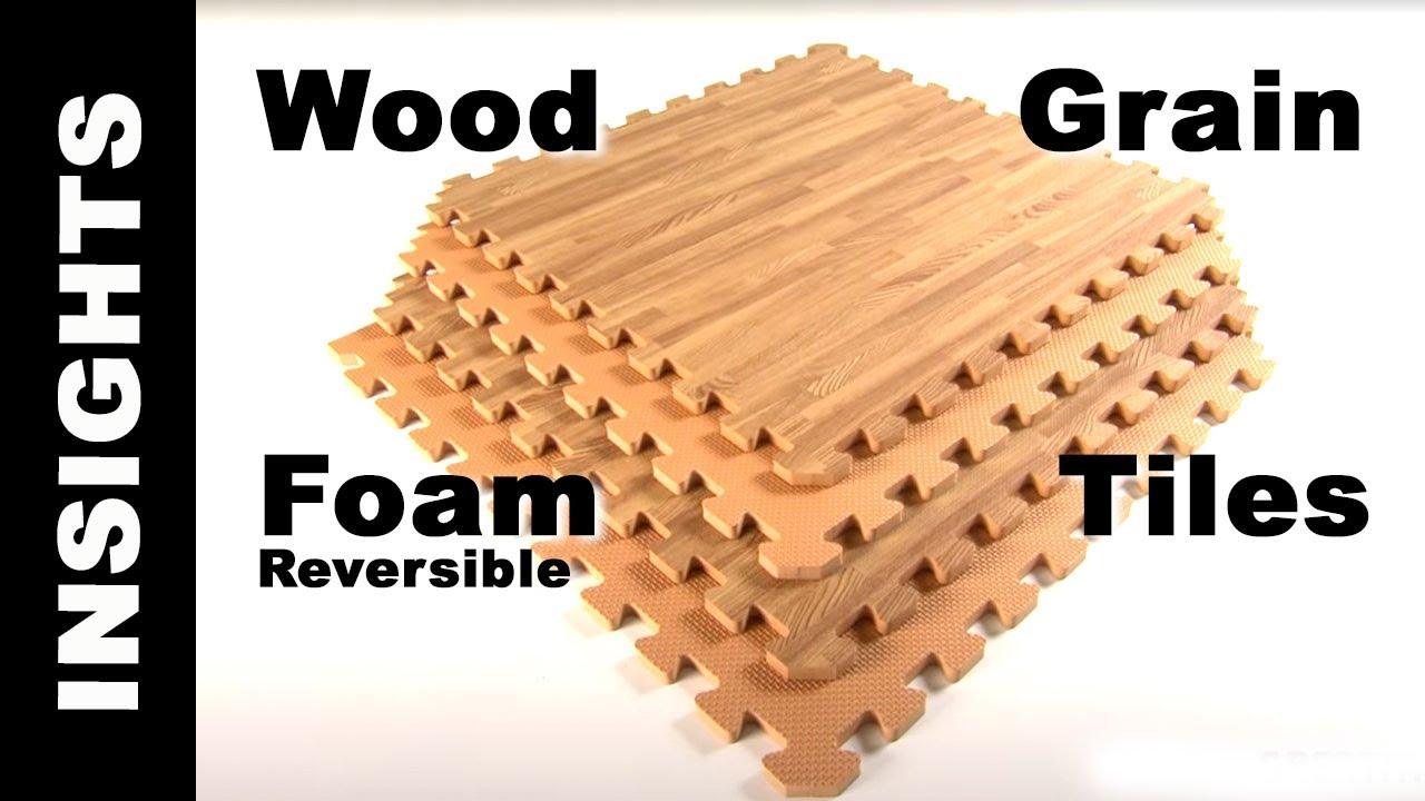 Foam Tiles Wood Grain Reversible  Interlocking Foam
