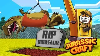 I Accidentally KILLED My Dinosaur in Minecraft! (Jurassic Craft)