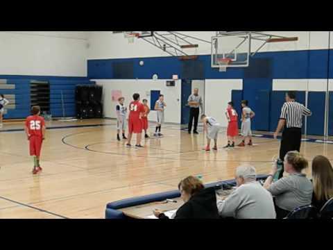 Whittemore Prescott Junior high school 7th grade basket ball vs Oscoda 11-7-16