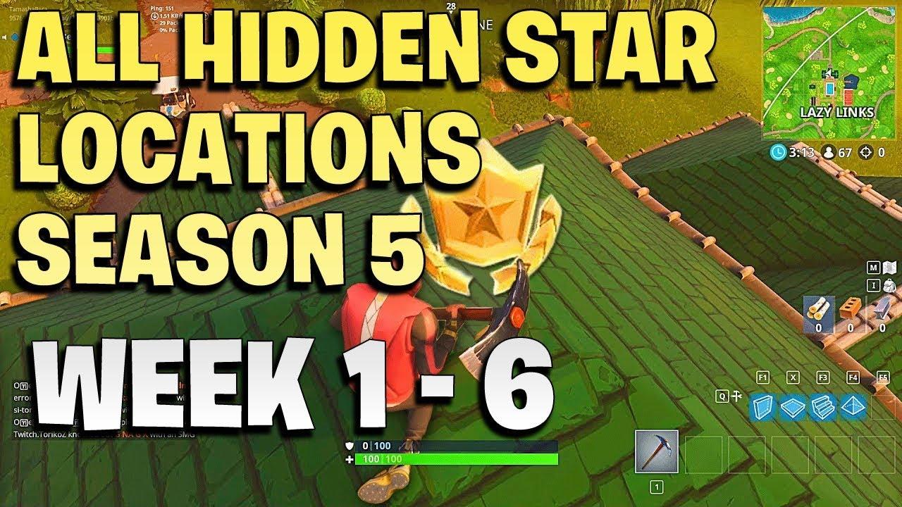 Fortnite Season 5 All Weekly Challenges Games Garage