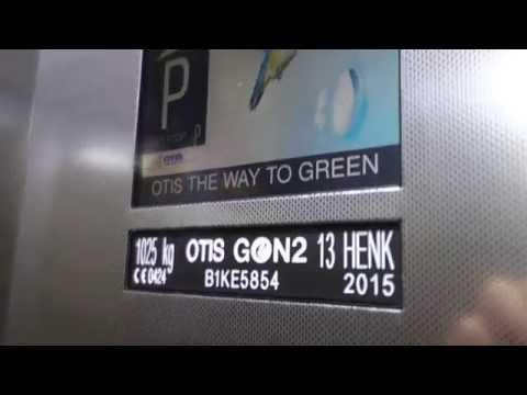 BRAND NEW!!! 2015 OTIS GEN2 MRL Traction Elevator @ Helsinki Railwaystation, Helsinki, Finland.