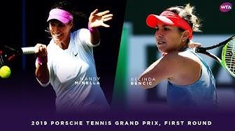 Mandy Minella vs. Belinda Bencic | 2019 Porsche Tennis Grand Prix First Round | WTA Highlights