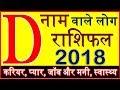 D Name People Horoscope Rashifal 2018 D नाम वाले लोग राशिफल 2018