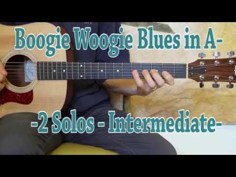Boogie Woogie Blues in A - Blues Guitar Lesson