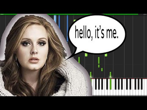 Hello - Adele [Piano Tutorial] (Synthesia)