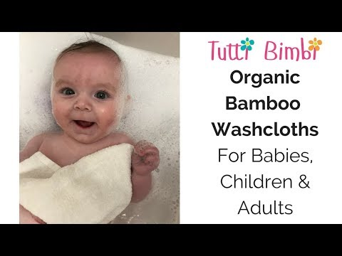 Tutti Bimbi Organic Bamboo Washcloths - For Babies, Children and Adults
