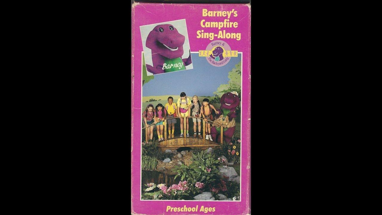 Barney's Campfire Sing-Along 1990 VHS - YouTube
