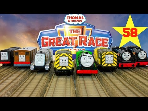 THOMAS AND FRIENDS THE GREAT RACE #58  TRACKMASTER FLYING SCOTSMAN Kids Playing Toy Trains