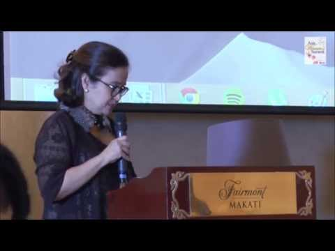Nina Aguas, CEO of Philippine Bank of Communications, speaks at Asia Womens Summit