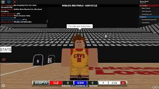 ROBLOX NBA Finals||Cavaliers Vs. Warriors||1st Quarter