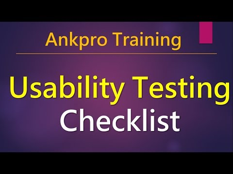 Manual testing 41 - Usability Testing Checklist For UI - Usability testing guidelines