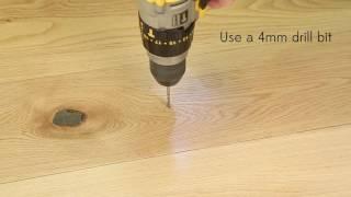 Tmel na podlahy KNOTTEC - Přilepení špatně položené plovoucí podlahy