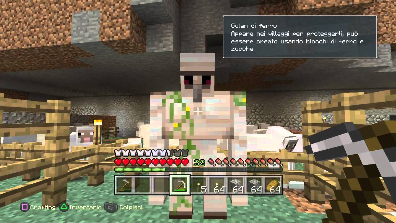 how to make a golem in minecraft ps4