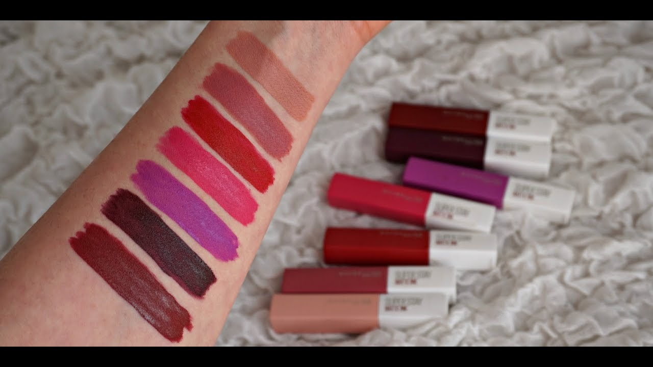 Rossetti Liquidi Top Maybelline Super Stay Matte Ink Review And Lip Swatches 7 Colori