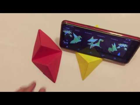 How to make paper phone stand - Origami Art