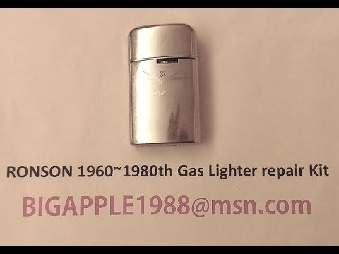 RONSON 1960~1980th Gas Lighter repair Kit***11 (Not the origional RONSON components)