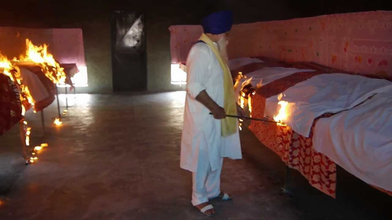 cremation of holy book  guru granth sahib