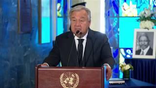 Tribute to Kofi Annan - António Guterres (UN Secretary-General)