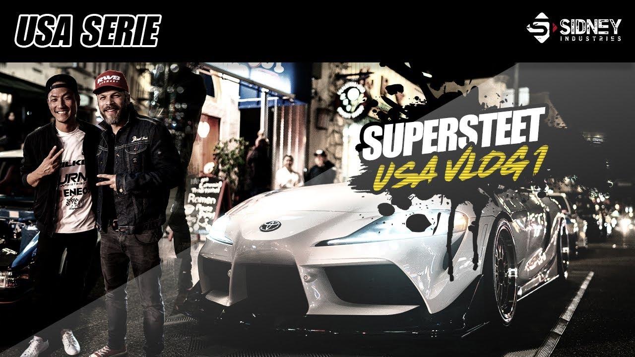 SUPRA & ROCKETBUNNY - SuperStreet   USA VLOG #1   Sidney Industries