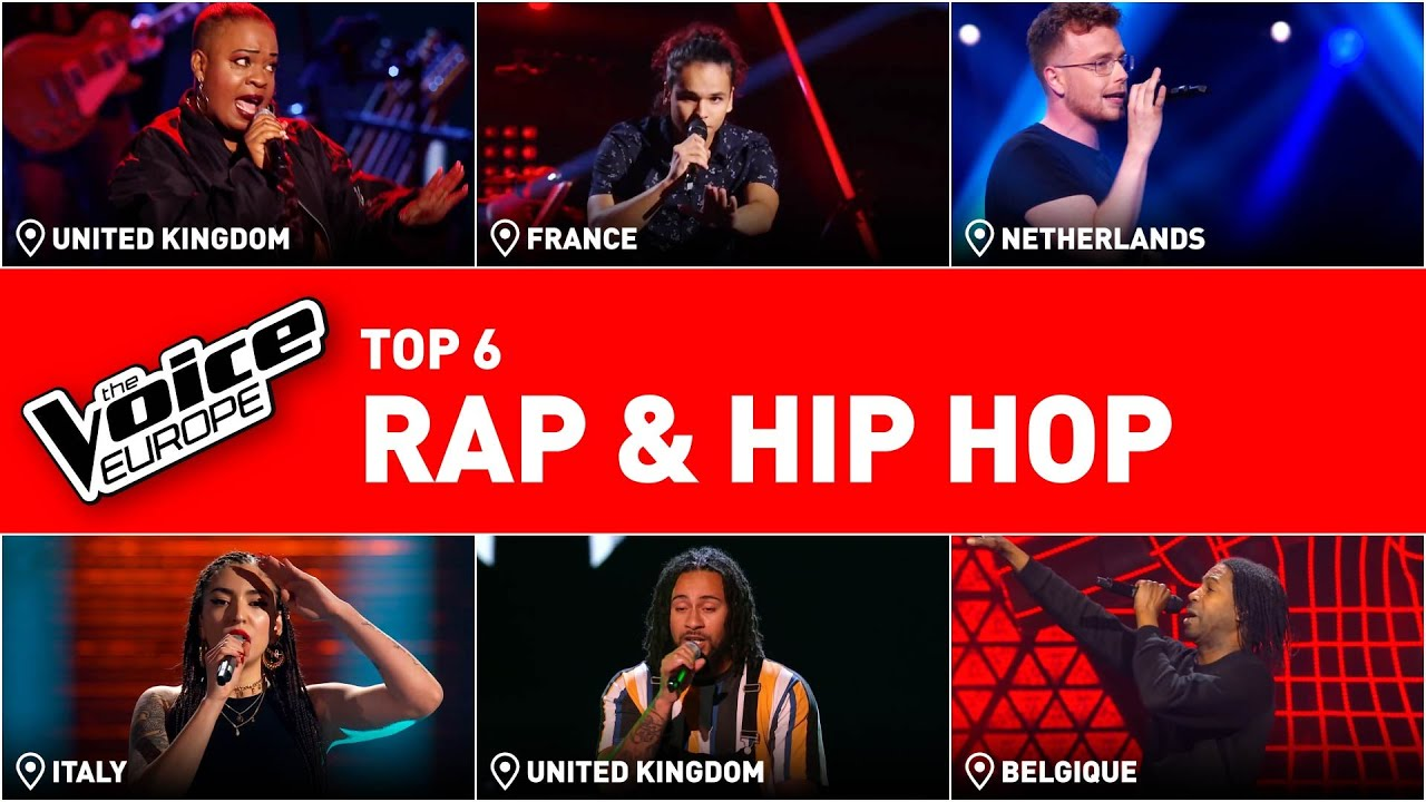 MIND-BLOWING RAP & HIP HOP Blind Auditions in The Voice! | TOP 6