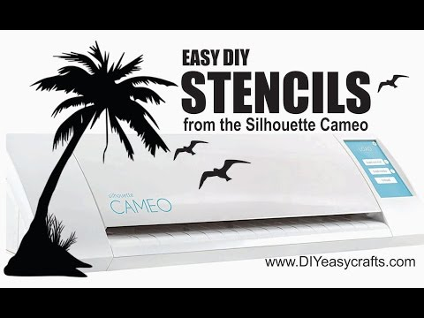 How to convert Clip Art into Stencils on the Silhouette Cameo craft cutting machine