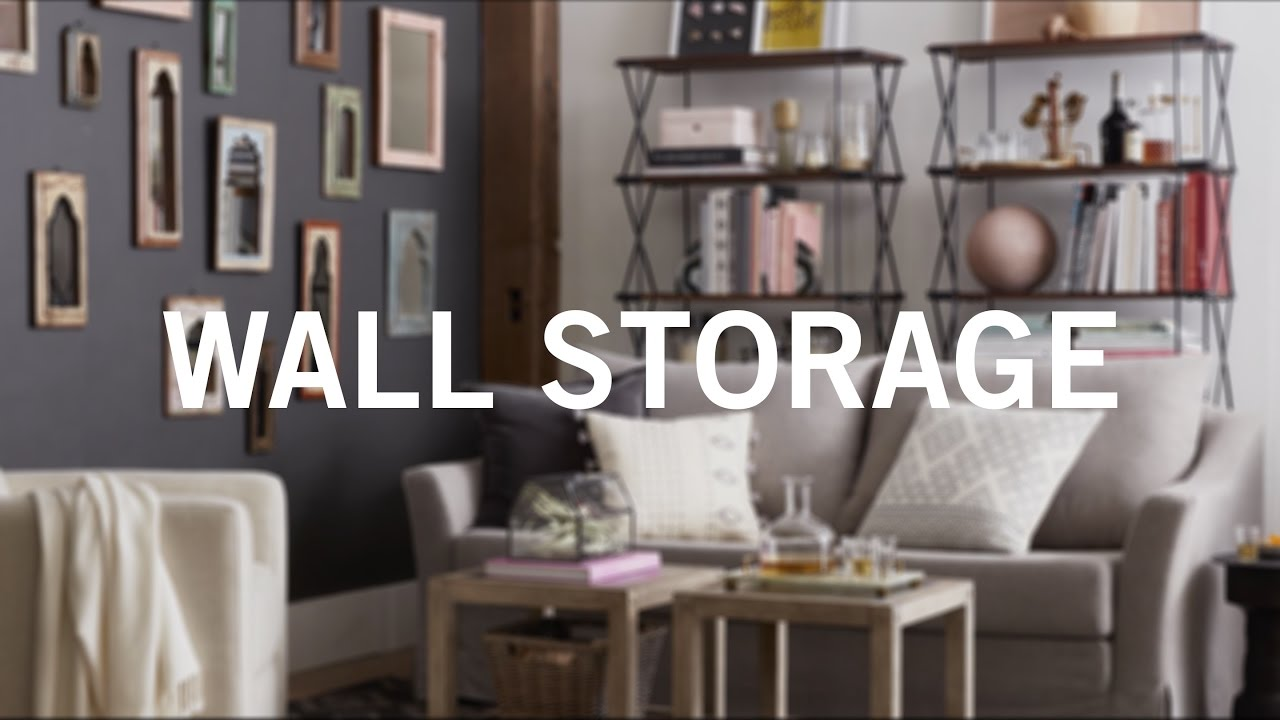 Small Space, Big Style: Wall Storage - YouTube