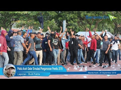 Polda Aceh Gelar Simulasi Pengamanan Pemilu 2019