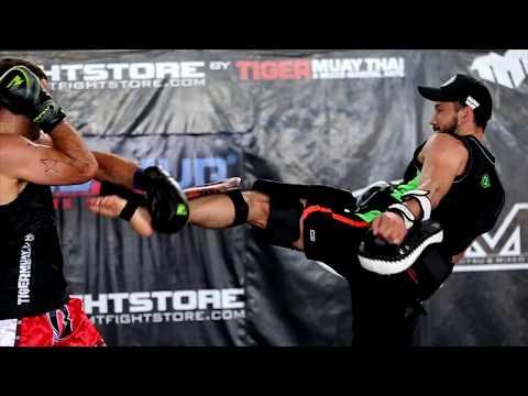 UFC Fighter I Tarec Saffiedine Pad Work