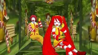 Repeat youtube video Miku Hatsune & Ronald McDonald Insanity [MMD]