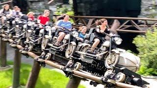 Hagrid's Motorbike Roller Coaster! Queue Walk-through & Offride POV! Universal Islands of Adventure