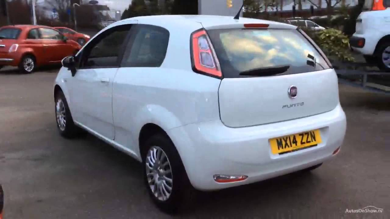 fiat punto pop white 2014 youtube. Black Bedroom Furniture Sets. Home Design Ideas