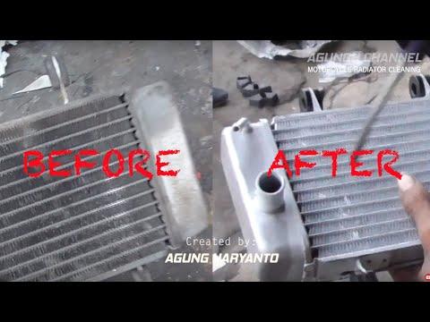 How To Make Motorcycle Radiator Clean - Yamaha Old Jupiter MX