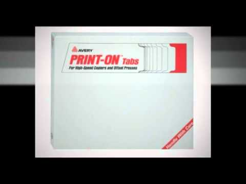 Avery 20405 Avery Unpunched Tab Dividers For Your Copier Youtube