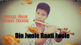 Din Jwole Raati Jwole - mission China Flute cover by dhurba || Zubeen Garg, Zublee Baruah ||