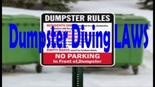 Dumpster Diving Laws By State