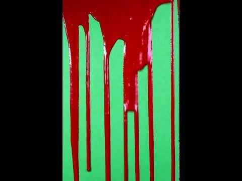 Dripping Blood Green Screen HD #2