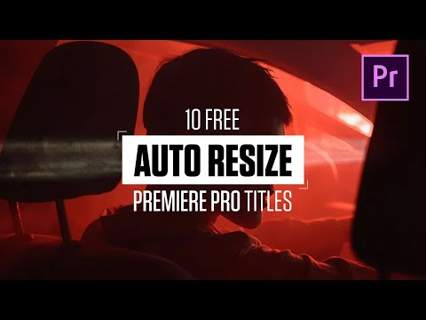 Premiere Pro Template : Auto Resizing Titles and Lower Thirds
