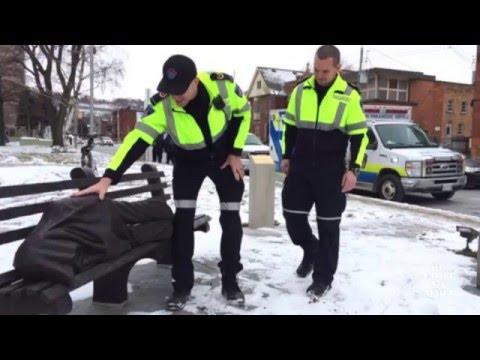 Statue of sleeping homeless man sparks 911 calls in Hamilton