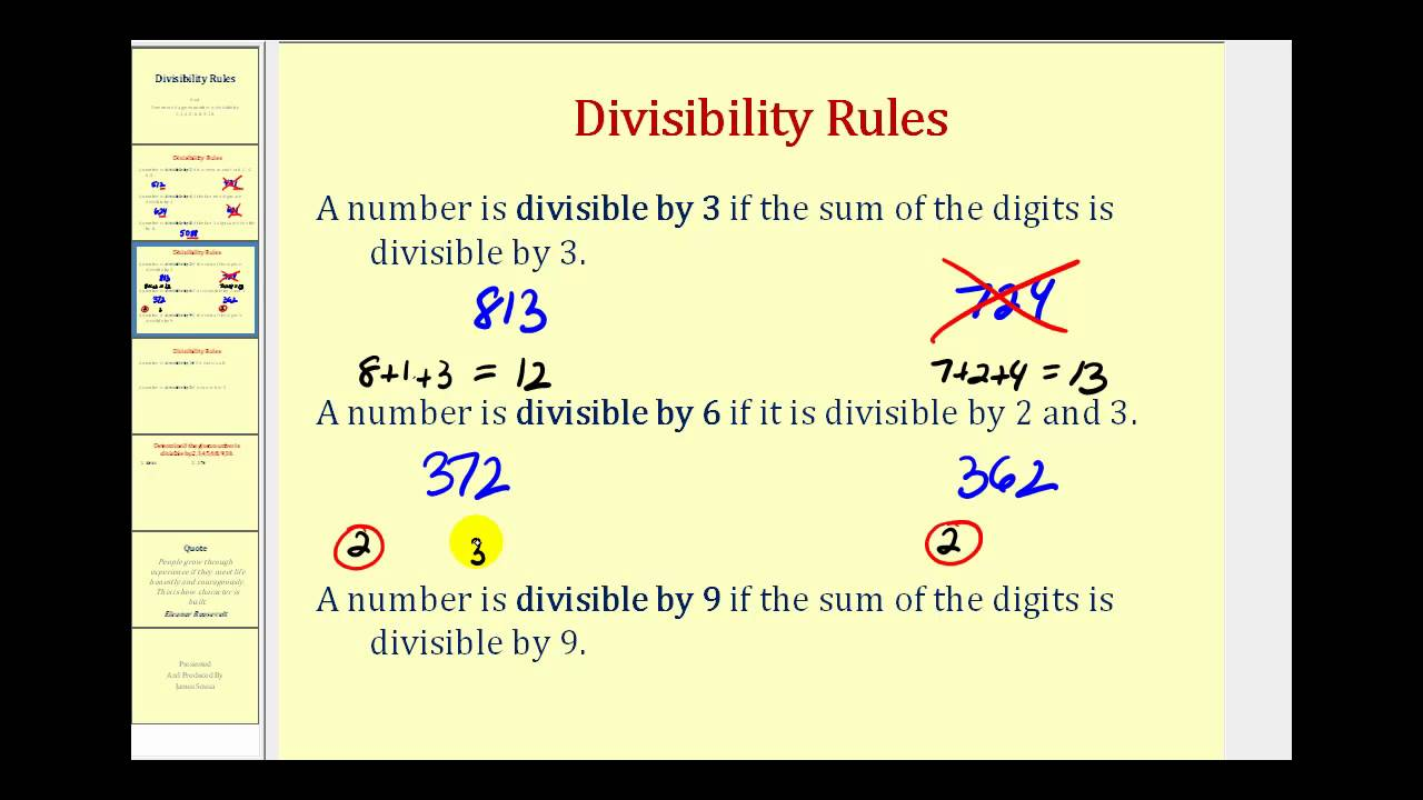 Divisibilities rules by 6 essay
