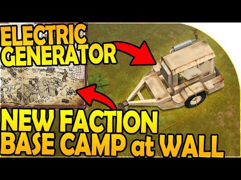 NEW FACTION BASE CAMP at THE WALL + NEW ELECTRIC GENERATOR - Last Day on Earth Jurassic Survival