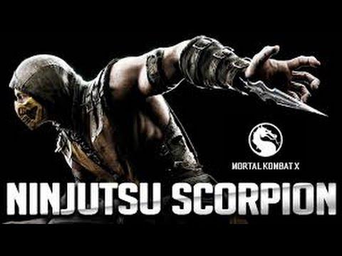 "Guia de Mortal Kombat X - ""Scorpion"" Combo de 10+ Golpes! Variante Ninjutsu!"