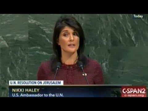 U.N. General Assembly Speeches Before Vote Condemning U.S. Declaring Jerusalem Israel's Capital