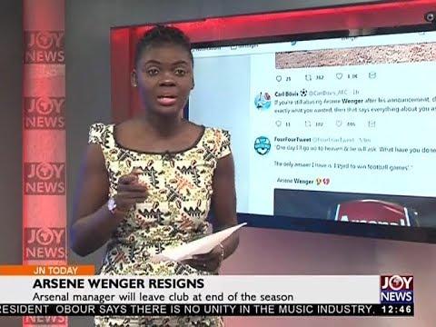 Arsene Wenger Resigns - Joy Sports Today (20-4-18)