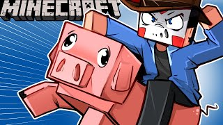 TURNING ALL THE MOBS INTO BIKES????.... ON MINECRAFT! - (Animal Bike Mod) Ep. 21!
