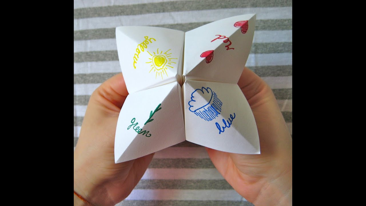 how to make a paper fortune teller very easy youtube. Black Bedroom Furniture Sets. Home Design Ideas