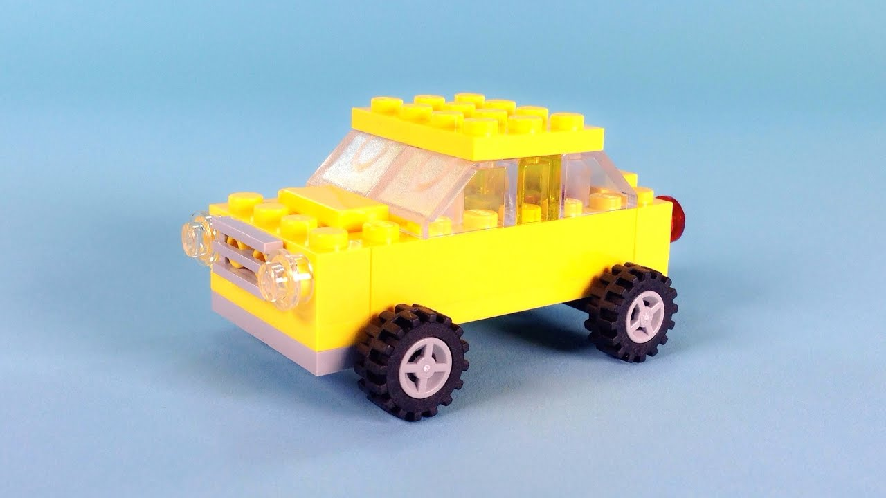 Lego car yellow building instructions lego classic for Modele maison lego classic